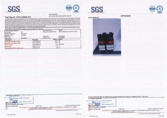 Chứng nhận chất lượng SGS