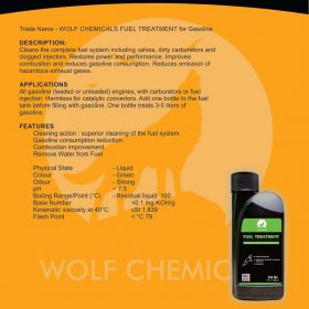 Phụ gia xăng xe máy – Wolf Chemicals Fuel Treatment 104ml